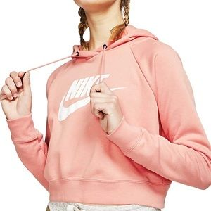 Nike long sleeve cropped hoodie size XL